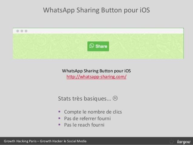 WhatsApp Sharing Button pour iOS Growth Hacking Paris – Growth Hacker le Social Media WhatsApp Sharing Button pour iOS htt...