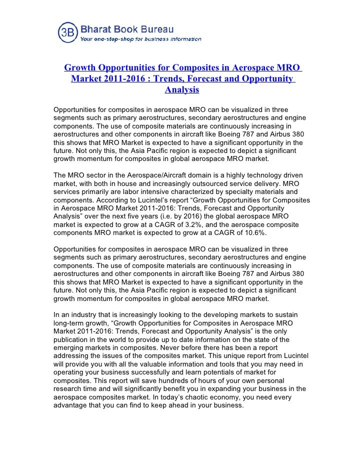 Growth Opportunities for Composites in Aerospace MRO    Market 2011-2016 : Trends, Forecast and Opportunity               ...