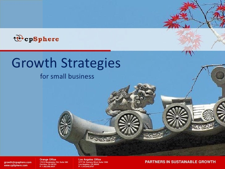 Growth Strategies                       for small business                           Orange Office                    Los ...