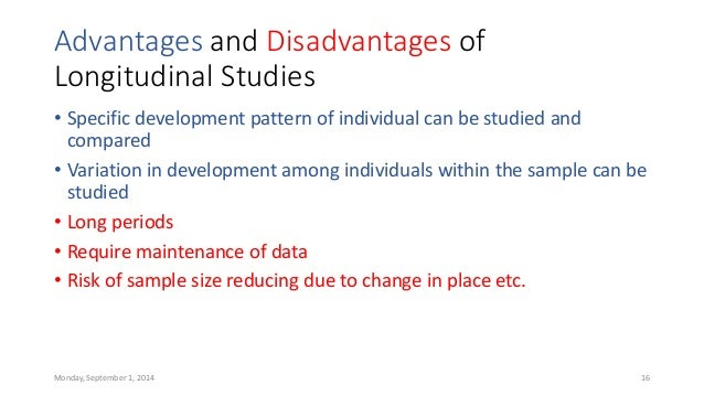 Advantages of Disadvantages of Longitudinal Studies ...