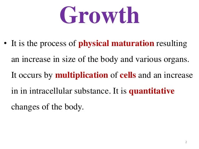 difference between growth and development ppt