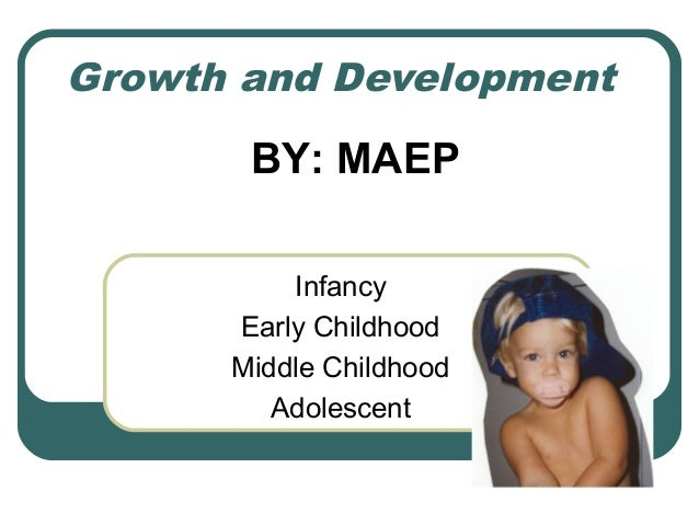 Growth and Development  BY: MAEP Infancy Early Childhood Middle Childhood Adolescent