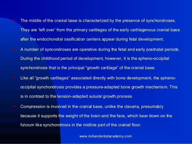 growth & development of cranial basae & vault, Human Body