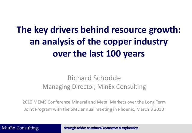 MinEx Consulting Strategic advice on mineral economics & exploration The key drivers behind resource growth: an analysis o...
