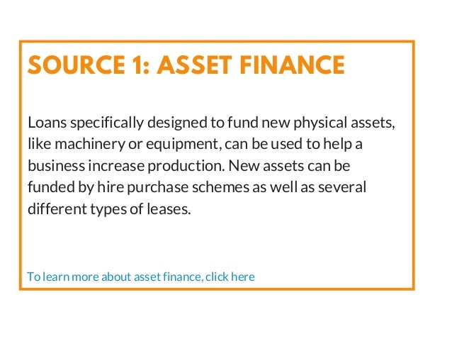 Loans specifically designed to fund new physical assets, like machinery or equipment, can be used to help a business incre...