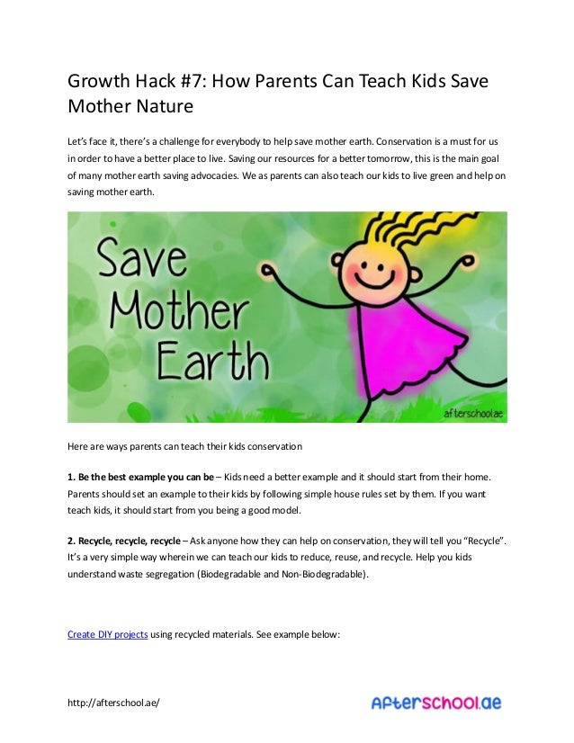 Essay of mother earth