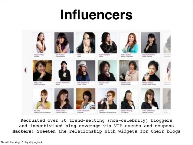 Influencers  Recruited over 30 trend-setting (non-celebrity) bloggers!  and incentivised blog coverage via VIP events and ...