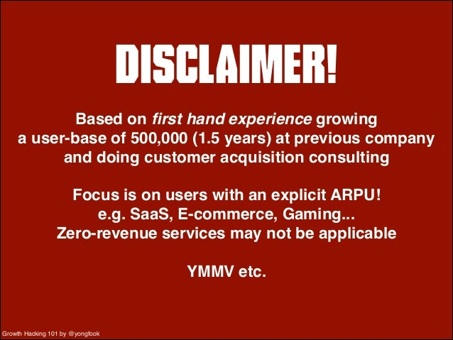 Disclaimer!  Based on first hand experience growing !  a user-base of 500,000 (1.5 years) at previous company!  and doing ...
