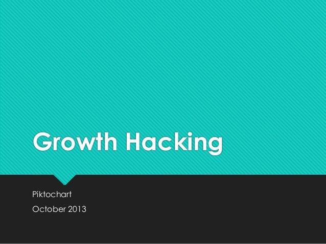 Growth Hacking Piktochart October 2013