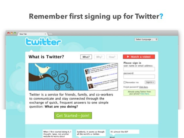 Remember first signing up for Twitter?