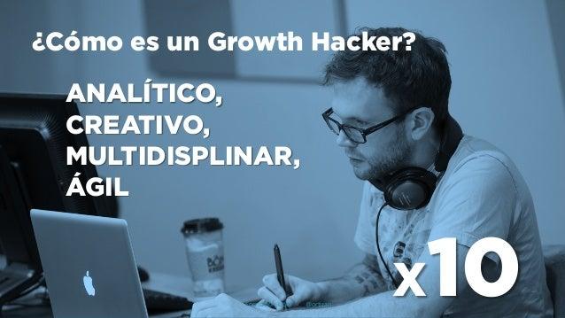 ¿Cómo es un Growth Hacker? ANALÍTICO, CREATIVO, MULTIDISPLINAR, ÁGIL X10Formación Libre - @ortizan