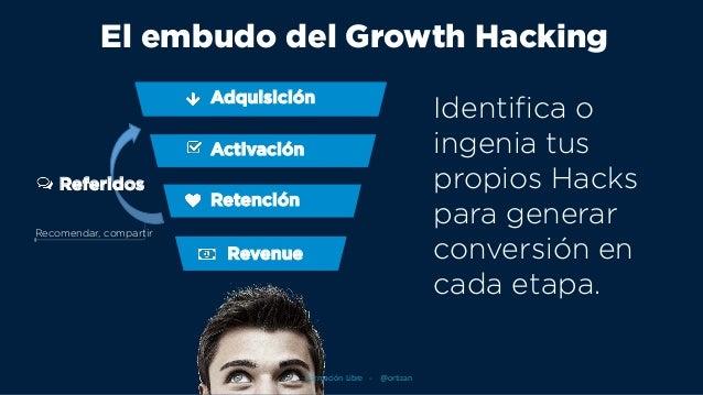 Adquisición Identifica o ingenia tus propios Hacks para generar conversión en cada etapa. Activación Retención Revenue Ref...