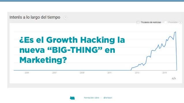 """¿Es el Growth Hacking la nueva """"BIG-THING"""" en Marketing? Formación Libre - @ortizan"""