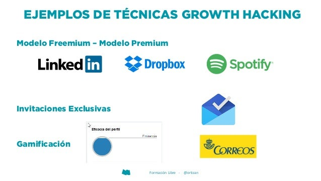 Formación Libre - @ortizan EJEMPLOS DE TÉCNICAS GROWTH HACKING Modelo Freemium – Modelo Premium Invitaciones Exclusivas Ga...