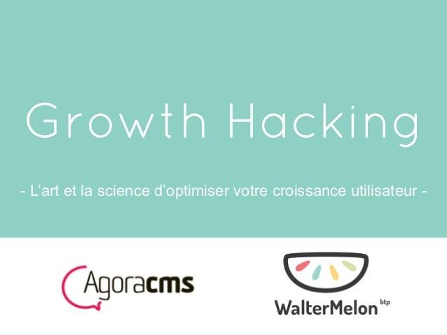 Growth Hacking - L'art et la science d'optimiser votre croissance utilisateur -