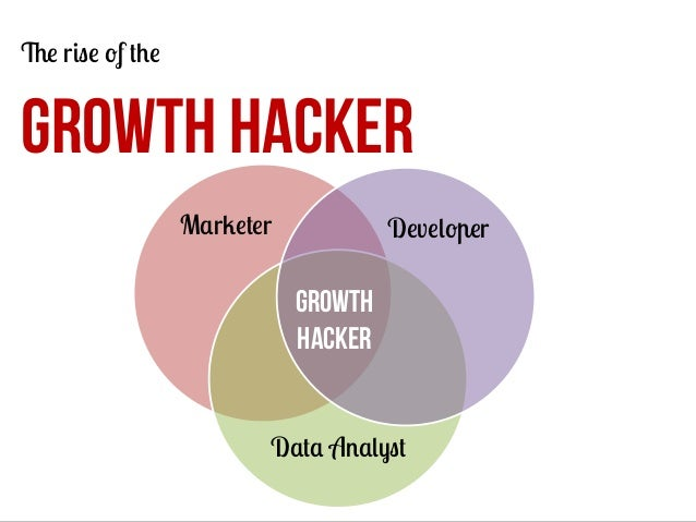 The rise of the  GROWTH HACKER Marketer  Developer  Growth hacker Data Analyst