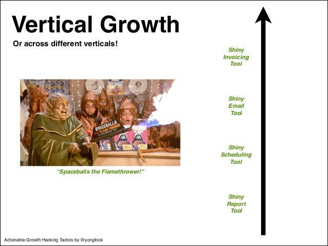 Vertical Growth  Shiny !  Invoicing!  Tool  Shiny !  Email!  Tool  Shiny !  Scheduling!  Tool  Shiny !  Report!  Tool  Or ...