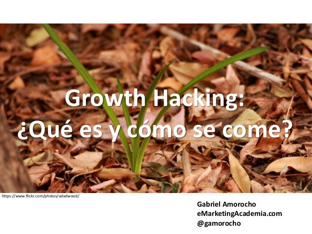 Growth Hacking: ¿Qué es y cómo se come? Gabriel Amorocho eMarketingAcademia.com @gamorocho https://www.flickr.com/photos/a...