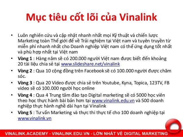 Mục tiêu cốt lõi của Vinalink • Luôn nghiên cứu và cập nhật nhanh nhất mọi Kỹ thuật và chiến lược Marketing toàn Thế giới ...