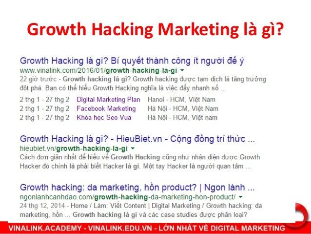 Growth Hacking Marketing là gì?