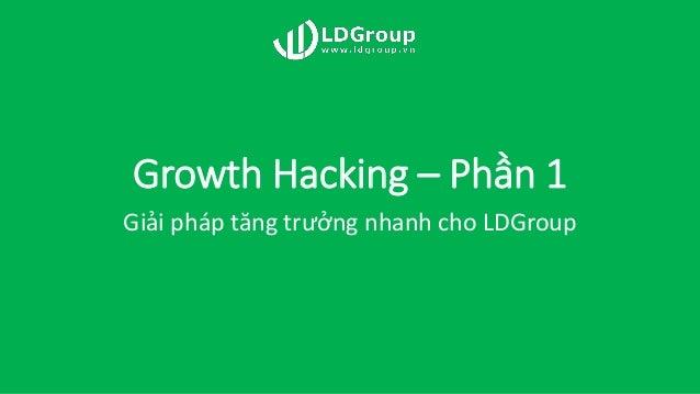 Growth Hacking – Phần 1 Giải pháp tăng trưởng nhanh cho LDGroup