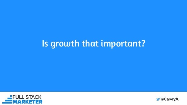 Is growth that important?