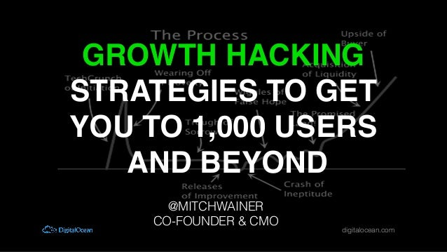 digitalocean.com! GROWTH HACKING STRATEGIES TO GET YOU TO 1,000 USERS AND BEYOND! @MITCHWAINER! CO-FOUNDER & CMO!