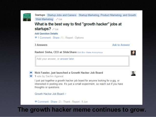 Growth hacking is unsexy Slide 3