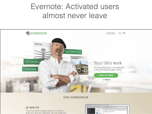 Evernote: Activated users  almost never leave