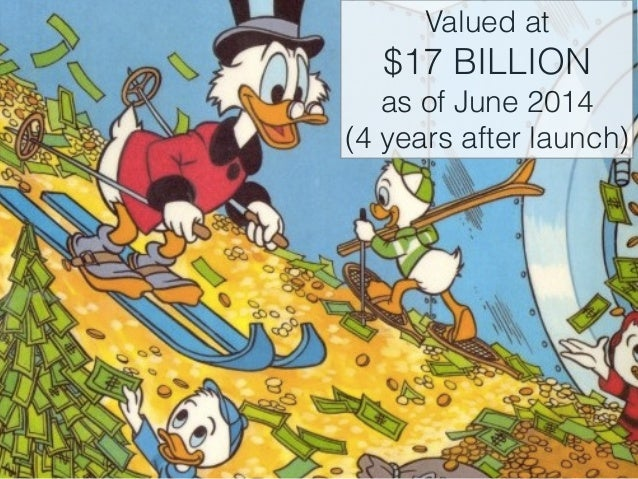 Valued at  $17 BILLION  as of June 2014  (4 years after launch)