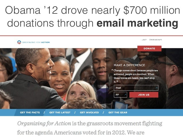 Obama '12 drove nearly $700 million  donations through email marketing