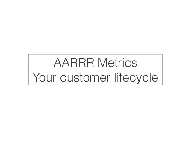 AARRR Metrics  Your customer lifecycle