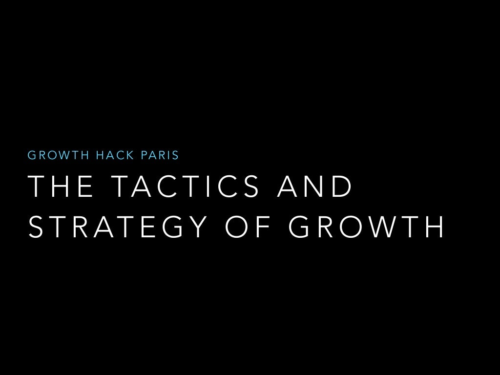 The Tactics and Strategy of Growth by Tyler Willis