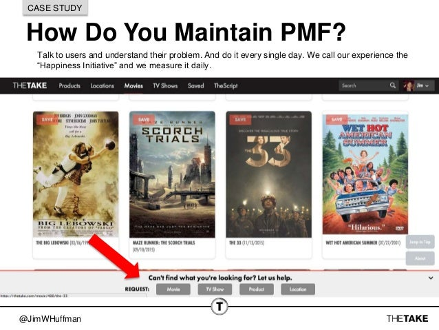 @JimWHuffman How Do You Maintain PMF? CASE STUDY Talk to users and understand their problem. And do it every single day. W...