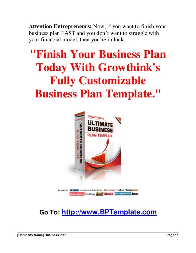 Growthink business plan template free download 14 company name business plan wajeb Images