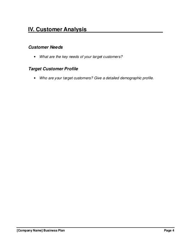 free template for business plan