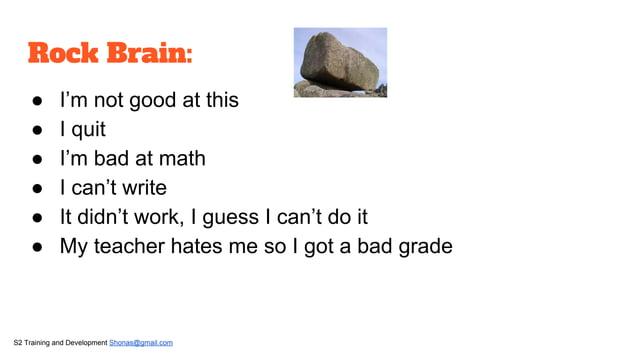 Fixed mindset :