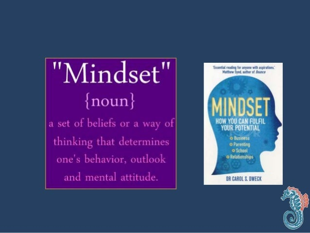 Mindset • Fixed –intelligence is fixed and can't be changed. • Growth – intelligence can be developed through effort & pra...