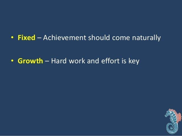 • Fixed – Hide mistakes and deficiencies • Growth – Capitalize on mistakes and learn from them