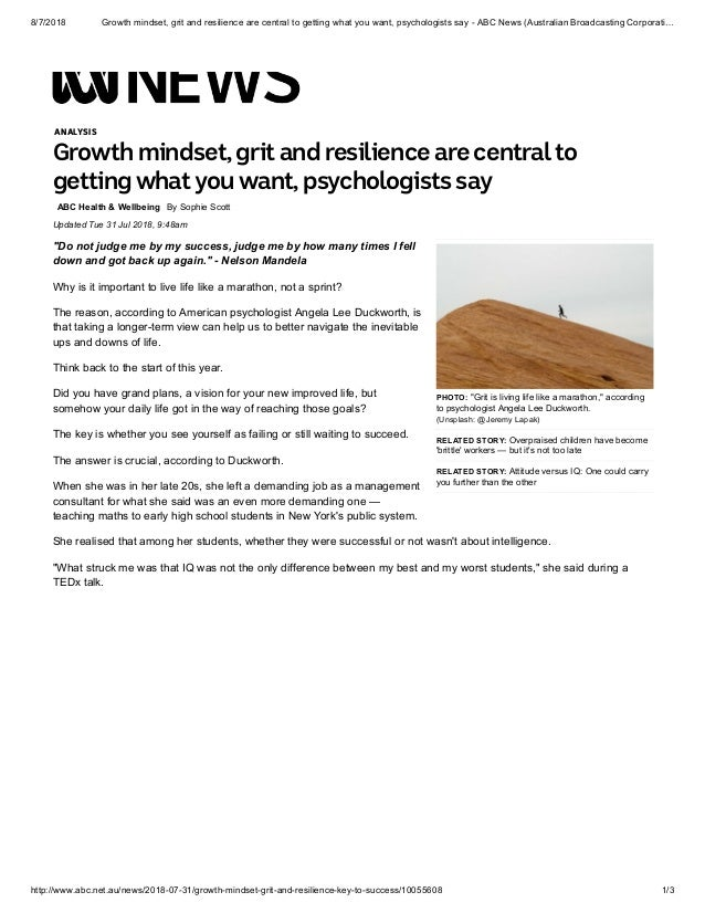 Can You Have Too Much Grit >> Growth Mindset Grit And Resilience Are Central To Getting