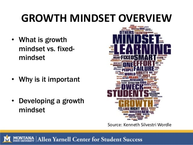 The importance of creating a growth mindset and battling a fixed mindset