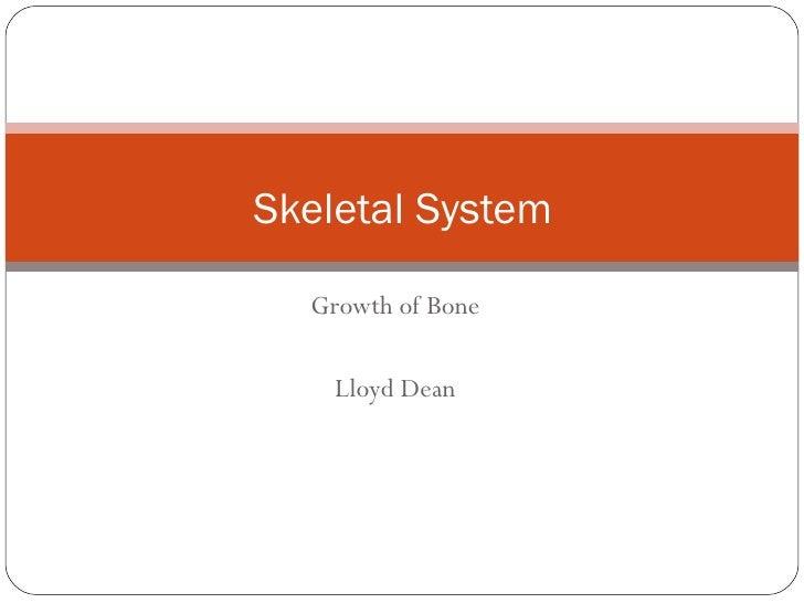 Growth of Bone Lloyd Dean Skeletal System