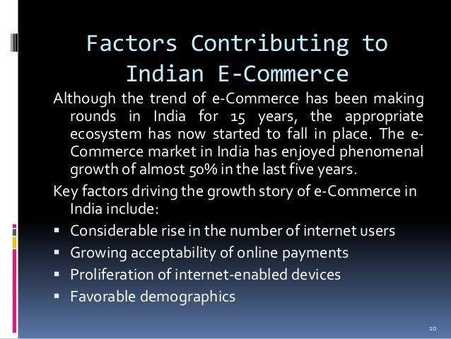 factors that contribute to the growth of commerce