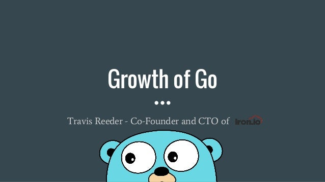 Growth of Go Travis Reeder - Co-Founder and CTO of Iron.io