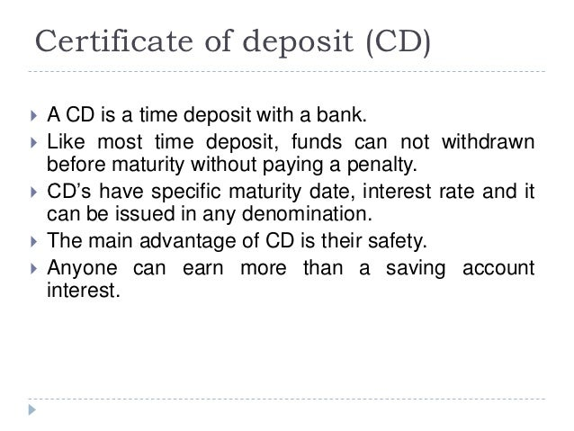 certificate of deposit india Explore the benefits of a certificate of deposit (cd) and how it can help you achieve your savings goals learn more about why you should open a cd today.