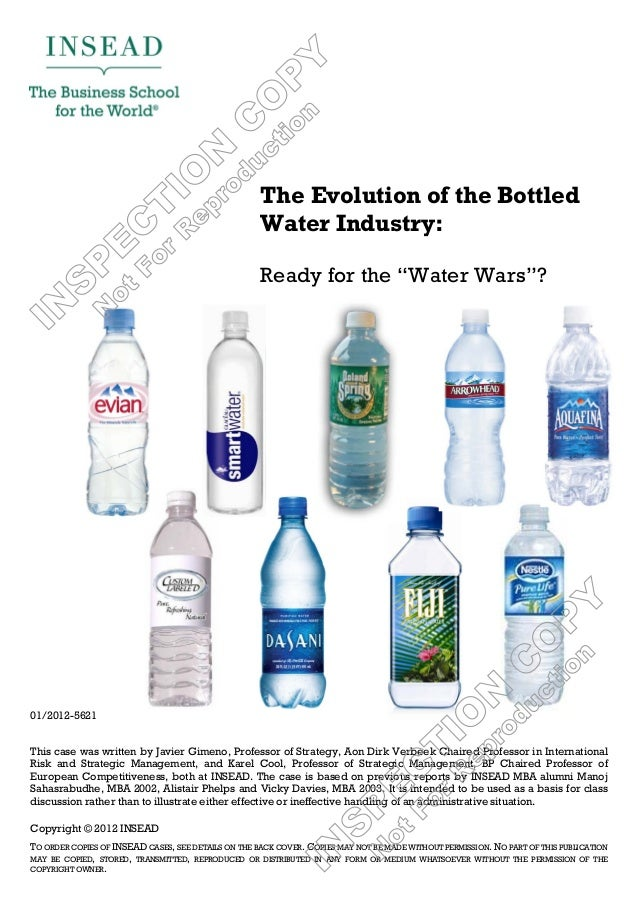 The Evolution of the Bottled                                                     Water Industry:                          ...