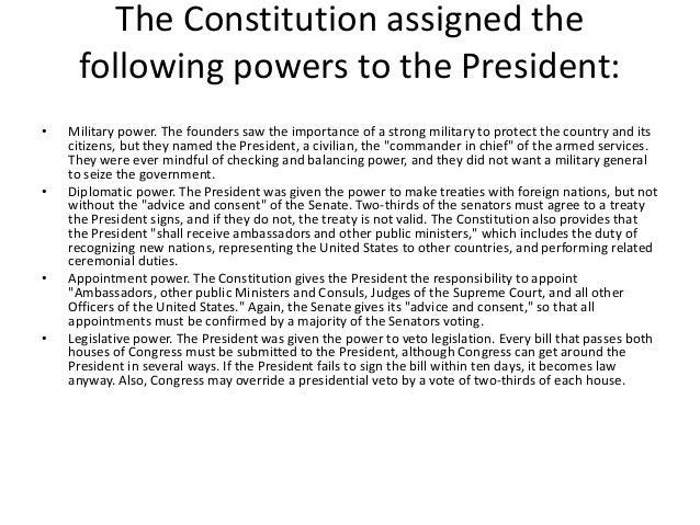 Evolution of Presidential Power – Roles of the President Worksheet