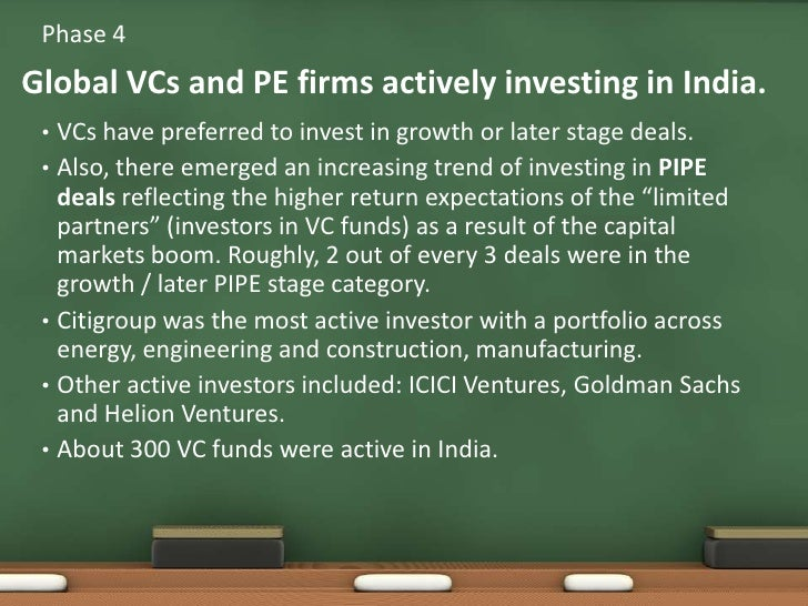 VCs have preferred to invest in growth or later stage deals. <br />Also, there emerged an increasing trend of investing in...