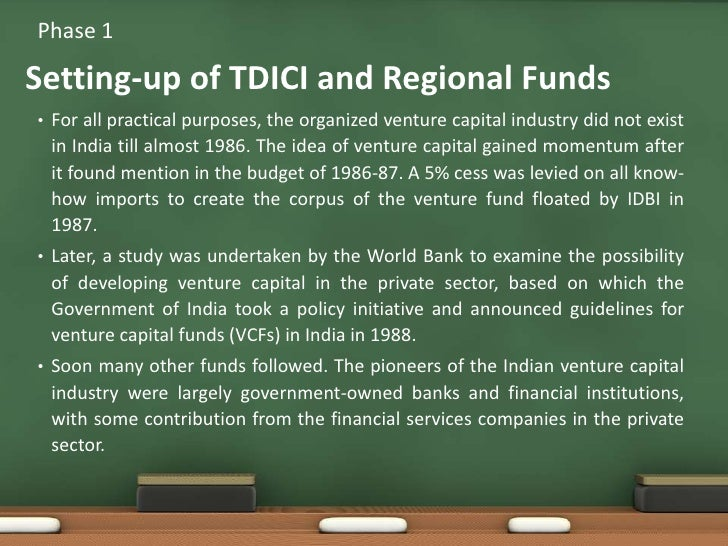 For all practical purposes, the organized venture capital industry did not exist in India till almost 1986. The idea of ve...