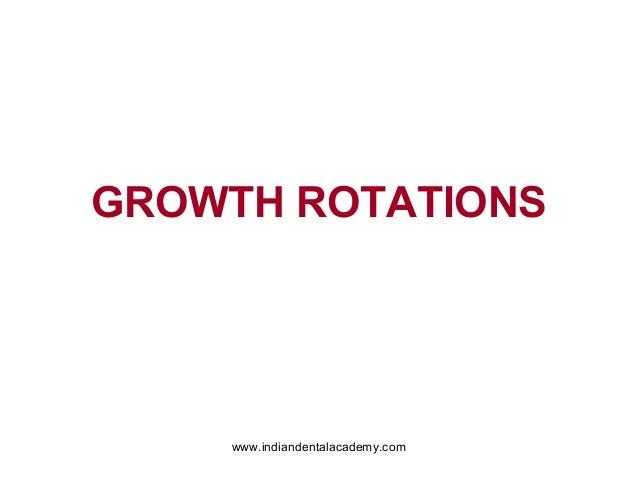 GROWTH ROTATIONS  www.indiandentalacademy.com